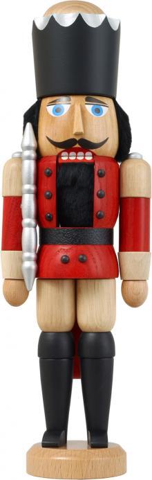 Nussknacker König Esche lasiert rot