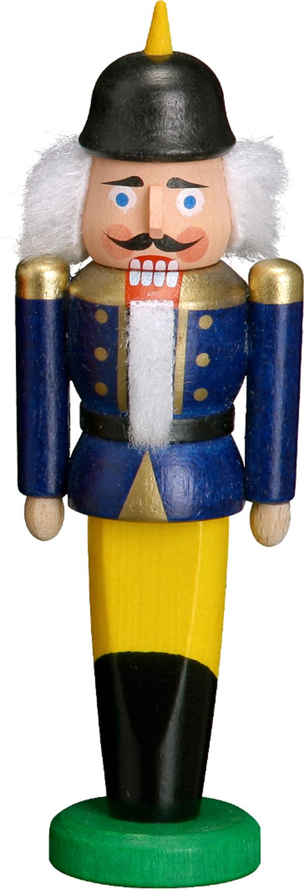Nussknacker Behang Soldat blau