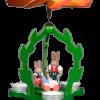 Osterpyramide Hasenmutter mit Kindern