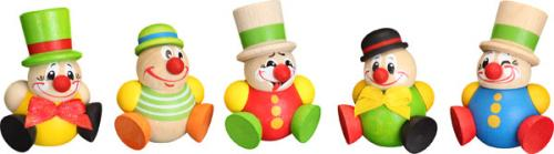 Kugelfiguren Clowny, 5er Satz