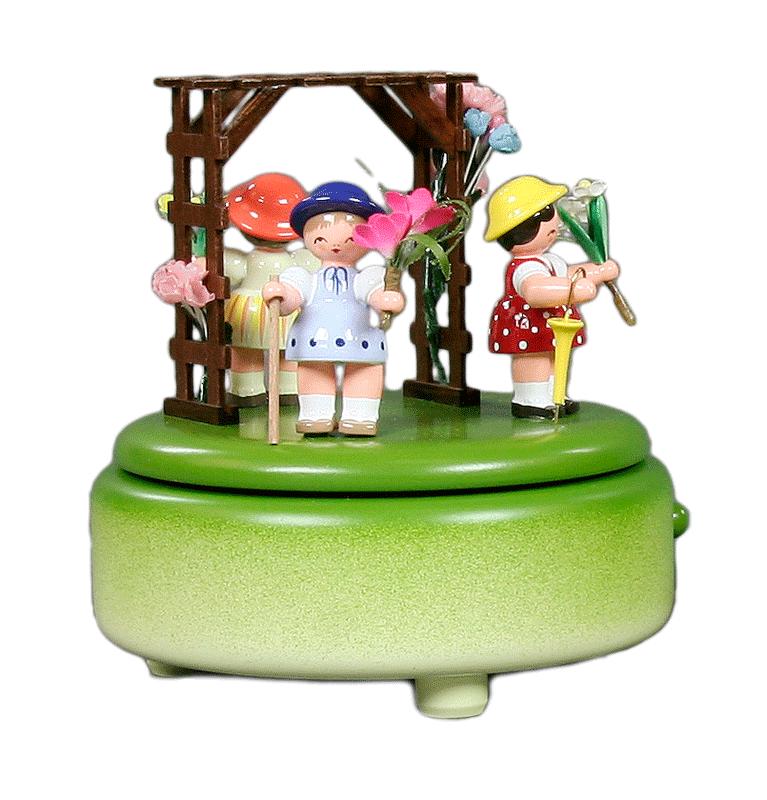 Musikdose, Spieldose Blumenkinder