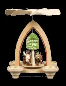 Ganzjahrespyramide, Spielwiese für 4 Teelichter