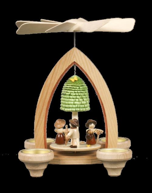 Pyramide für Teelichter Frühlingsgarten