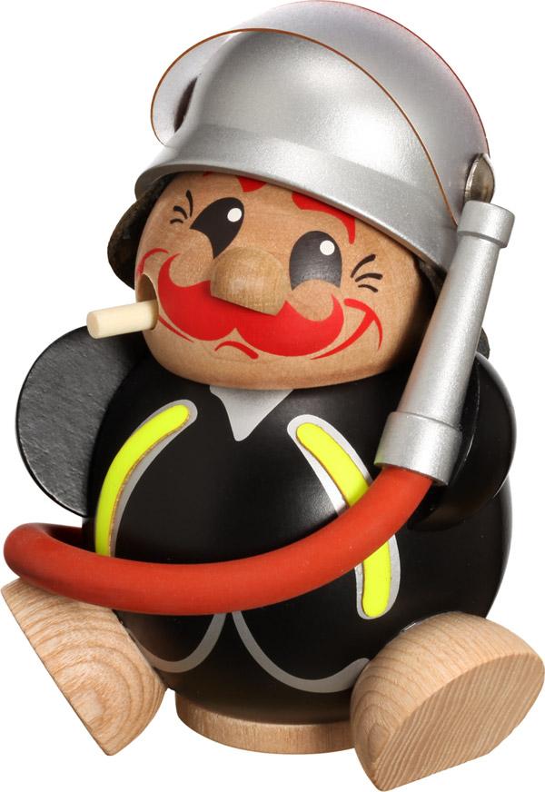 Kugelräucherfigur Feuerwehrmann