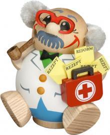 Kugelräucherfigur Arzt