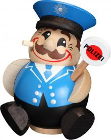 Kugelräucherfigur Polizist