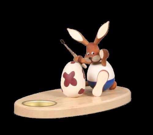 Teelichthalter Hasenmaler sitzend