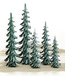 Spiralbaum grün-weiß / 25 cm