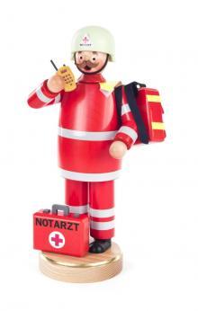 Räuchermann Notarzt mit erste Hilfe Koffer