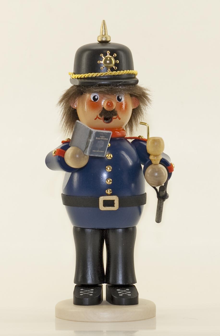 Räuchermann Polizist (stehend)
