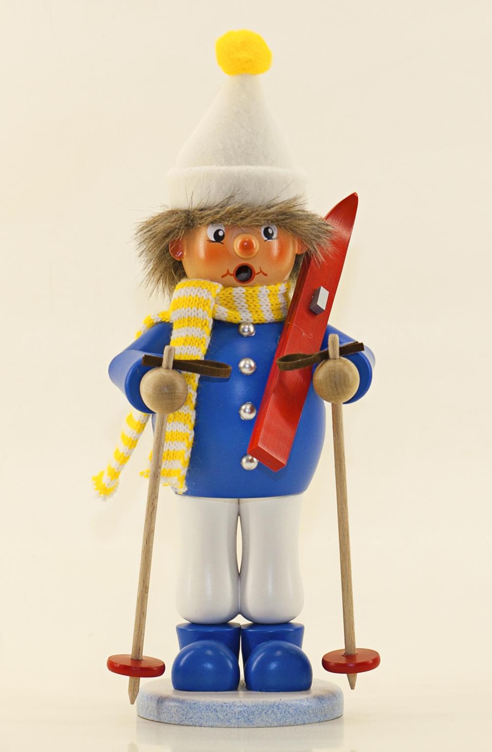 Räuchermann Skifahrer (stehend)