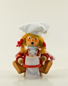 Räuchermann Bäckerin (sitzend)