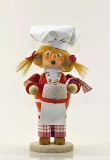 Räuchermann Bäckerin (stehend)