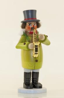 Räuchermann Weihnachtssinger Saxophonspieler