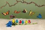 Steckvögel, gross, 6 Stück, sortiert