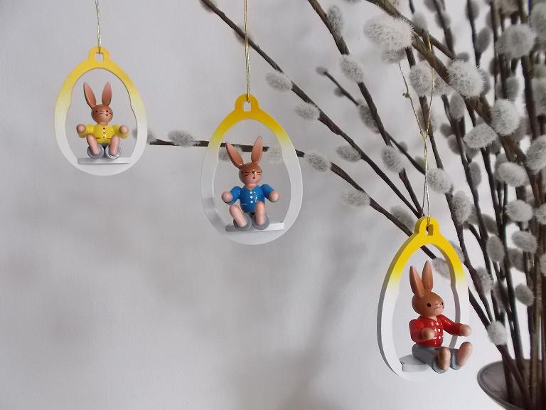 Osterbehang Hasenkinder im Ei