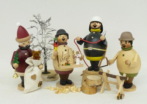Räuchermann Max als Waldarbeiter
