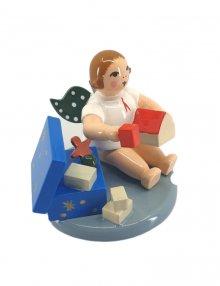 Engel-mit-Spielzeugkiste, ohne Krone
