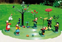 Blumenkindertreppe mit Baum