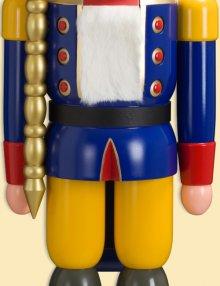 Nussknacker König blau