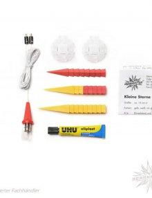 Herrnhuter Stern, Kunststoff 13cm, gelb/rot