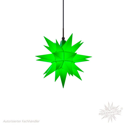 Herrnhuter Stern, Kunststoff 40cm, grün