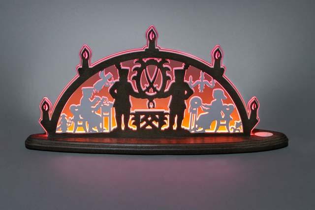 LED Schwibbogen Erzgebirge, rot