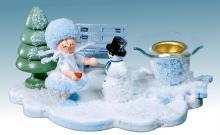Kerzenständer Schneeflöckchen mit Schneemann **neu 2015**