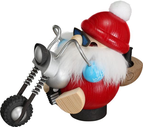 Kugelräucherfigur Hobby - Biker Nikolaus