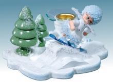 Kerzenständer Schneeflöckchen als Snowboarder **neu 2015**