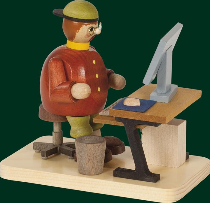 Räuchermann Computerfreak, sitzend