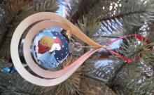 Baumbehang Glaskugel Weihnachtsmann, 3D