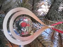 Baumbehang Glaskugel Kerze, 3D