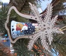 Baumbehang Glasglocke, Weihnachtsmannandbemalt,Weihnachtsmann