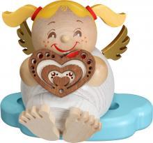 Kugelräucherfigur Engel mit Lebkuchen  **Neu 2015**