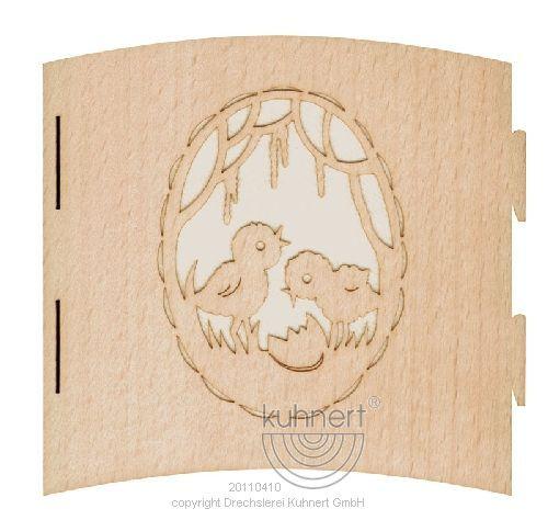 Österliche Motivleuchten aus edlem Holz