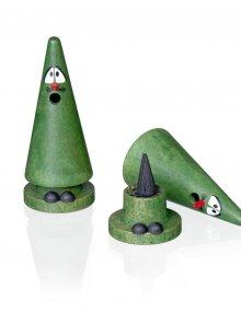 Crottendorfer Räucherfigur, Ziegenbein, grün Tina Tanne