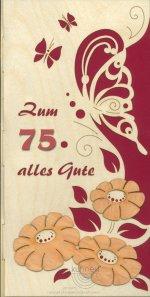 Geburtstagskarte Schmetterling individuell mit Zahl **Neu 2015**