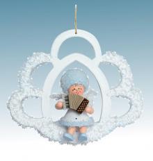 Baumschmuck Schneeflöckchen mit Akkordeon **Neu 2015**