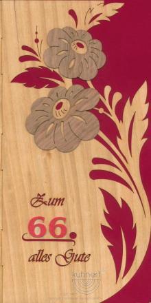 Geburtstagskarte Blüten individuell mit Zahl **Neu 2015**