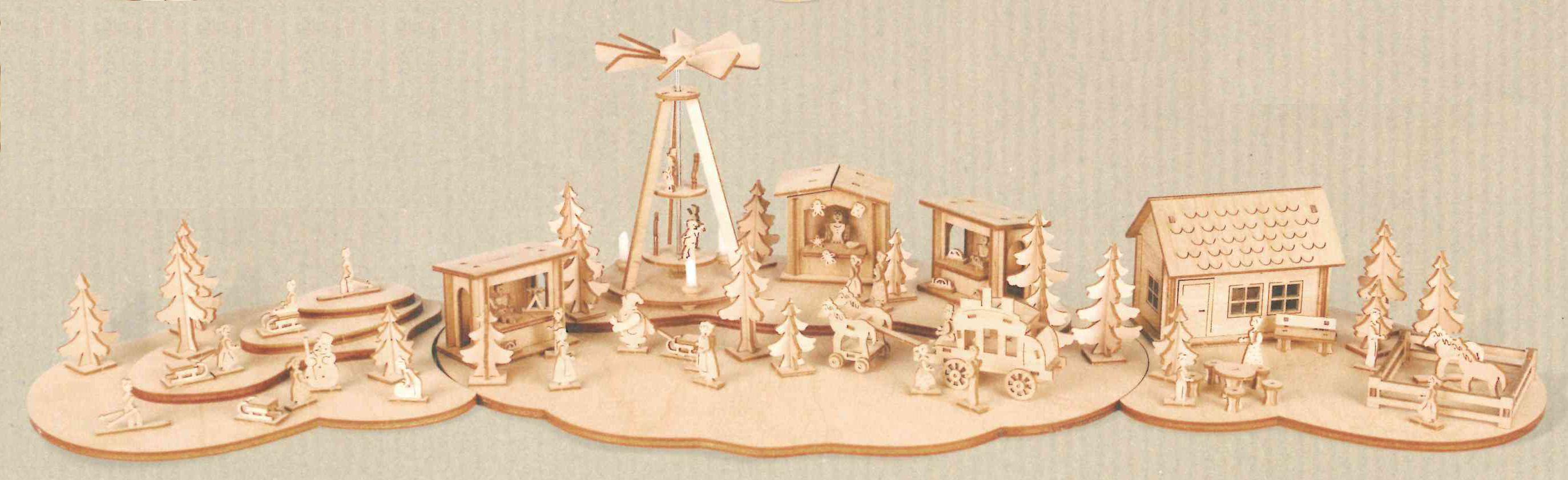 Miniatur Komplett Set Weihnachtsmarkt **Neu 2015**