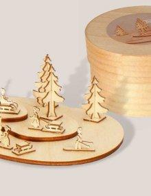 Miniatur Rodelberg in Spandose **Neu 2015**