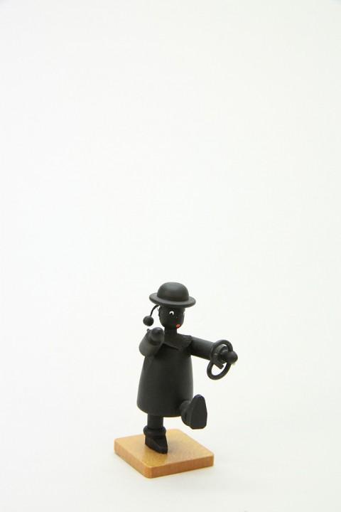 Kaspar mit Brezel, schwarz