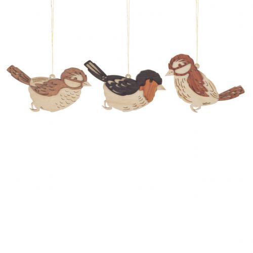 Osterschmuck, Behang 6 Vögel