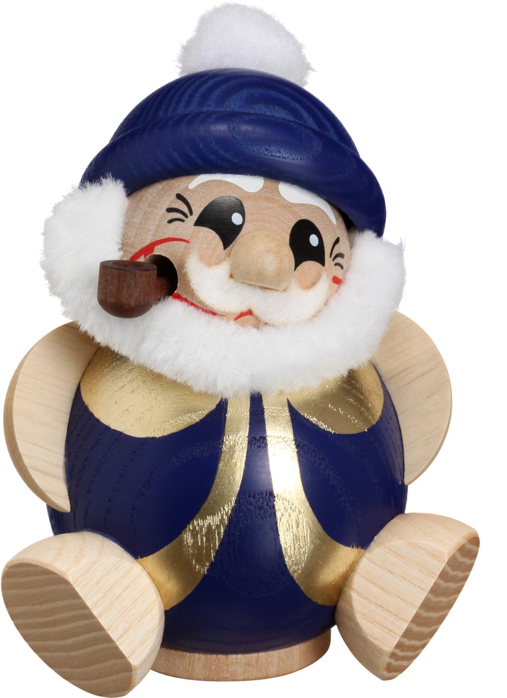 Kugelräucherfigur Nikolaus blau-gold **Neu 2016**
