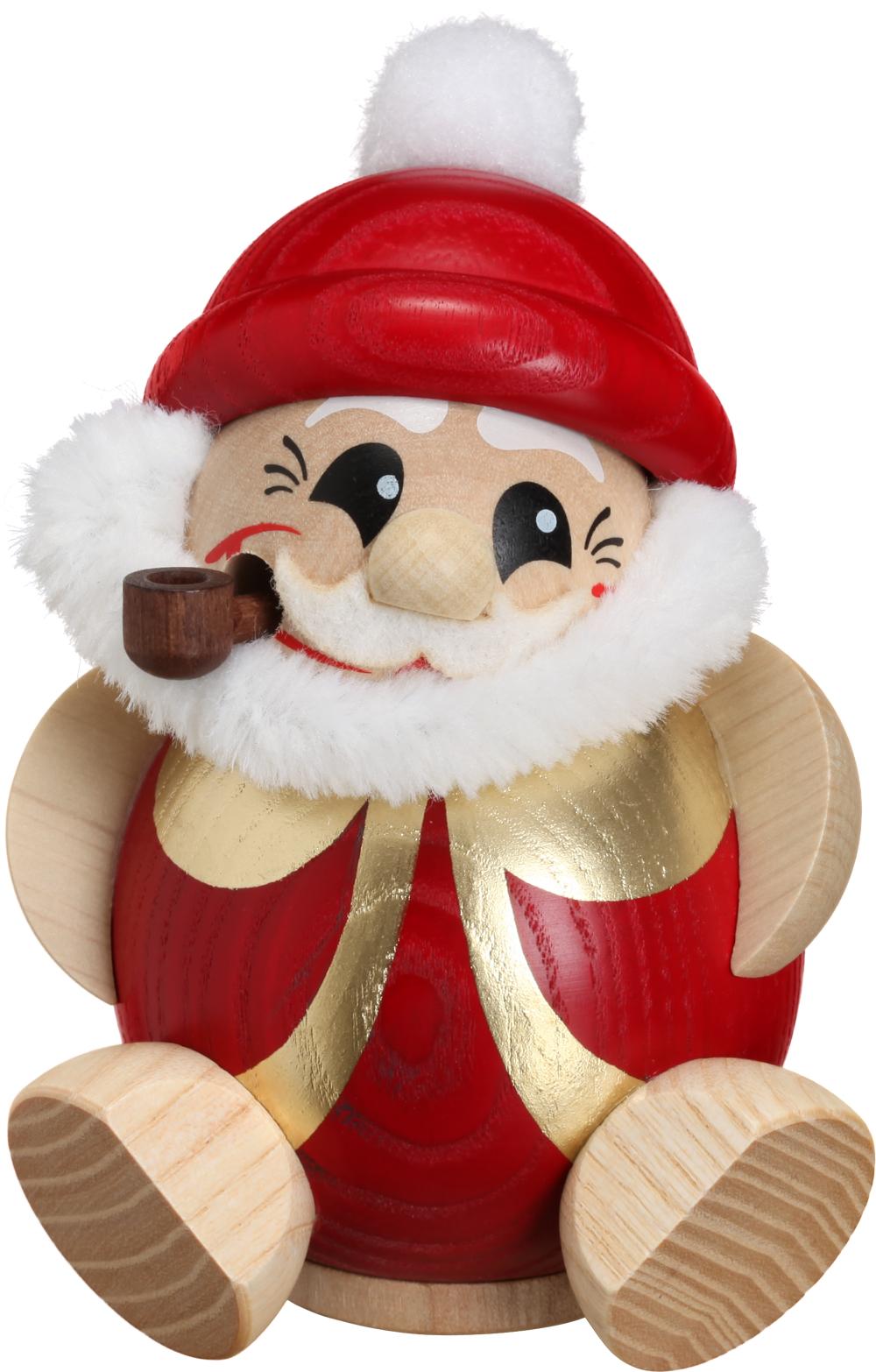 Kugelräucherfigur Nikolaus rot-gold **Neu 2016**