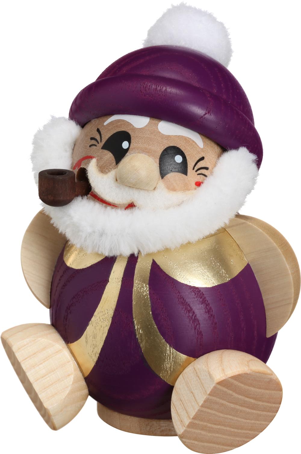 Kugelräucherfigur Nikolaus purpur-gold **Neu 2016**