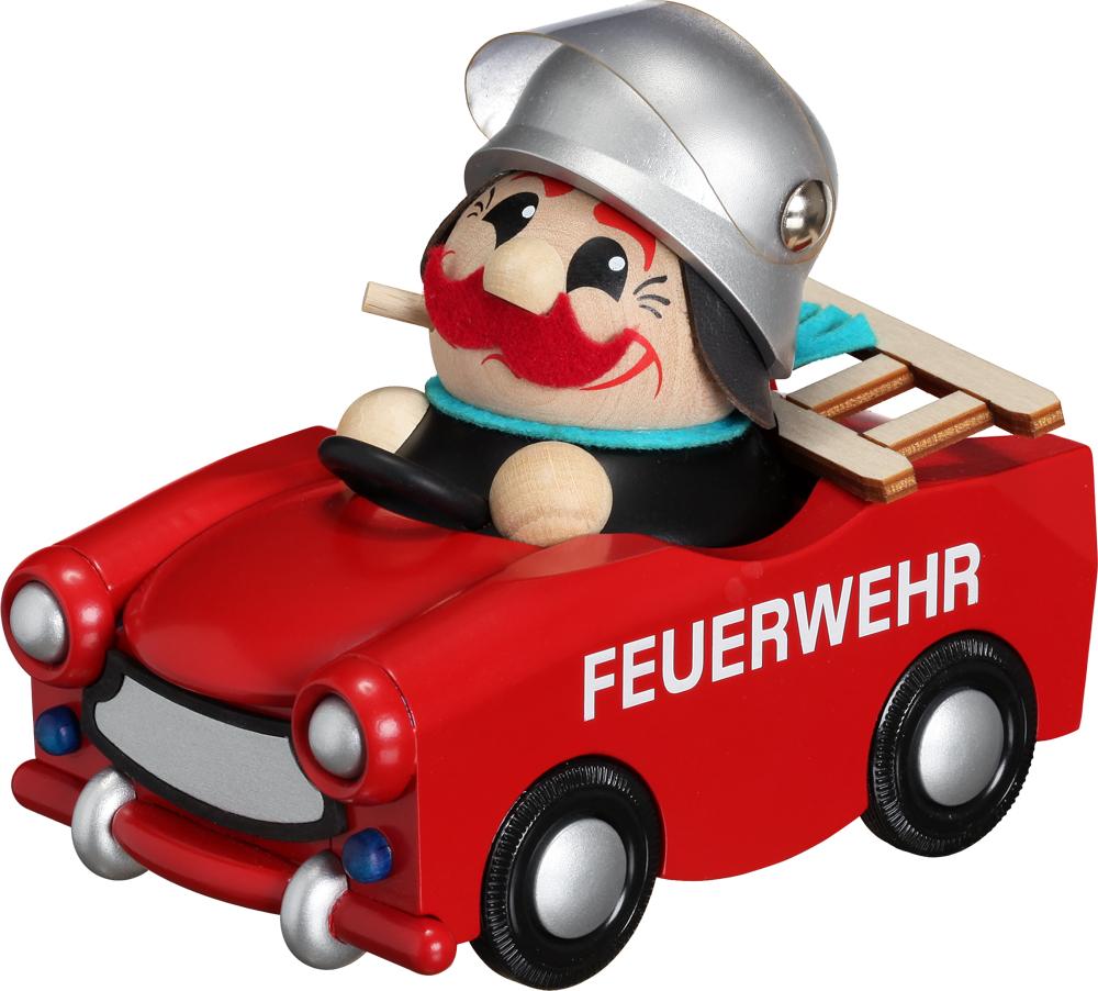 Kugelräucherfigur Feuerwehrmann im Trabi **Limitiert 2016**