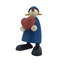 Gratulantin Thea mit Herz, blau
