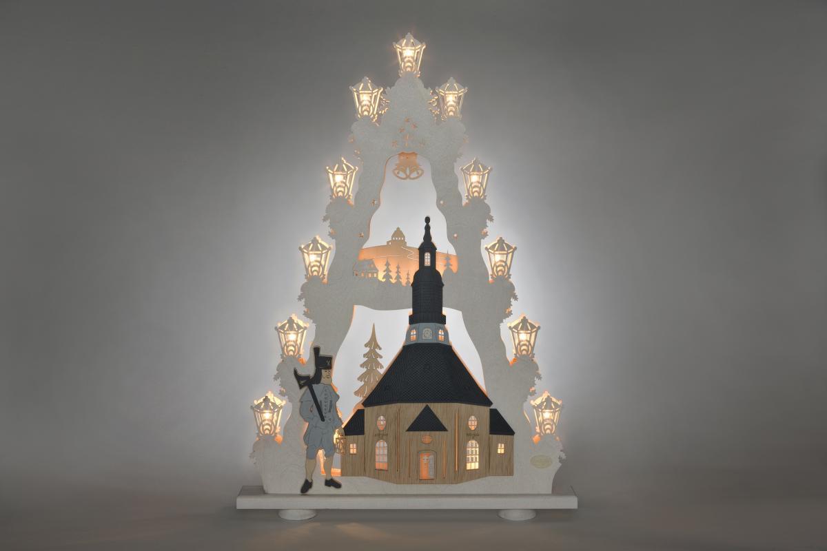 """Lichterspitze """"Seiffener Kirche"""" **Neu 2016**"""